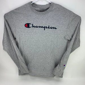 Champion Long Sleeve Spell Out Script T-Shirt